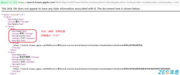 苹果aso搜索指数官方接口